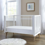 Sealy Stain Repel & Release Fitted Crib Mattress Pad - White