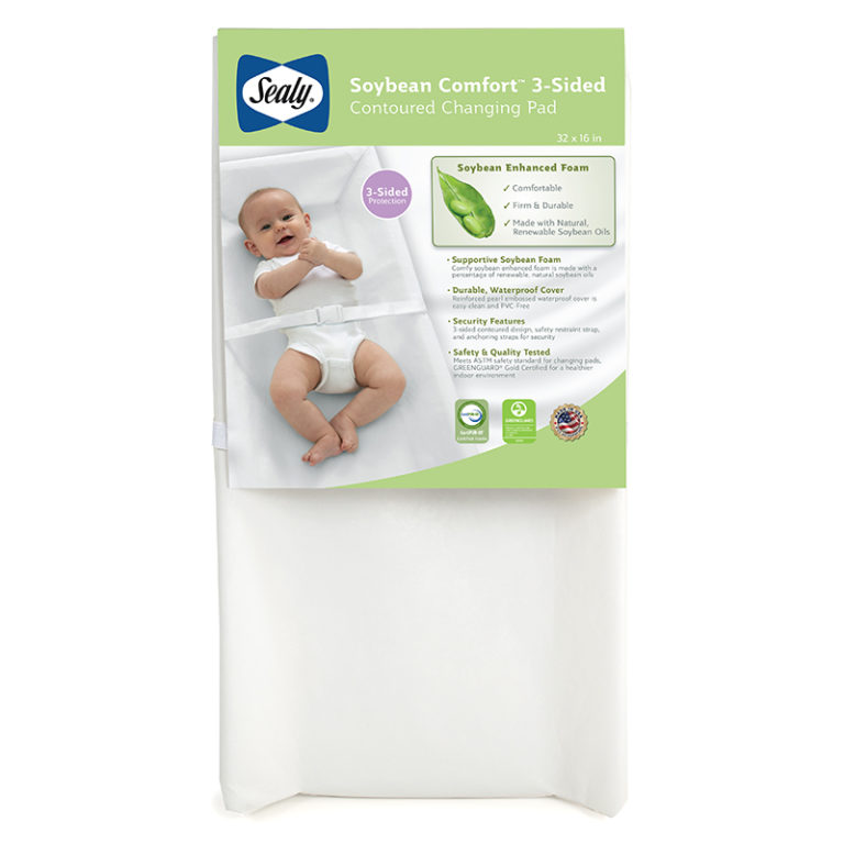 Sealy Soybean Comfort 3-Sided Contour Diaper Changing Pad
