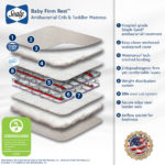 Sealy Baby Firm Rest Antibacterial Crib and Toddler Mattress - White