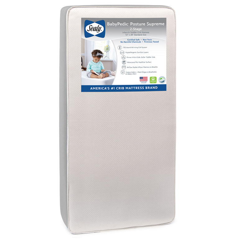 Sealy Nature Couture Cotton Bliss 2-Stage Crib Mattress ...