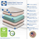 Features of the Sealy Soybean Plush Foam-Core Crib and Toddler Mattress