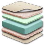 Sealy Cool Comfort 2-Stage Cool Gel Crib & Toddler Mattress - White
