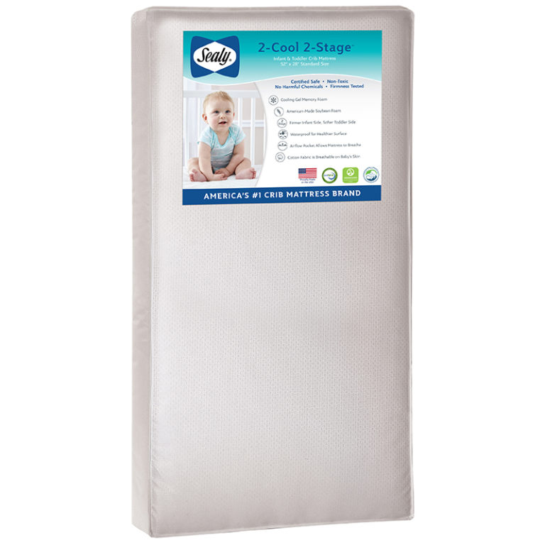 Sealy 2-Cool 2-Stage Crib and Toddler Mattress