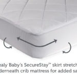 Sealy Naturals Cotton Fitted Crib and Toddler Mattress Pad Cover - White
