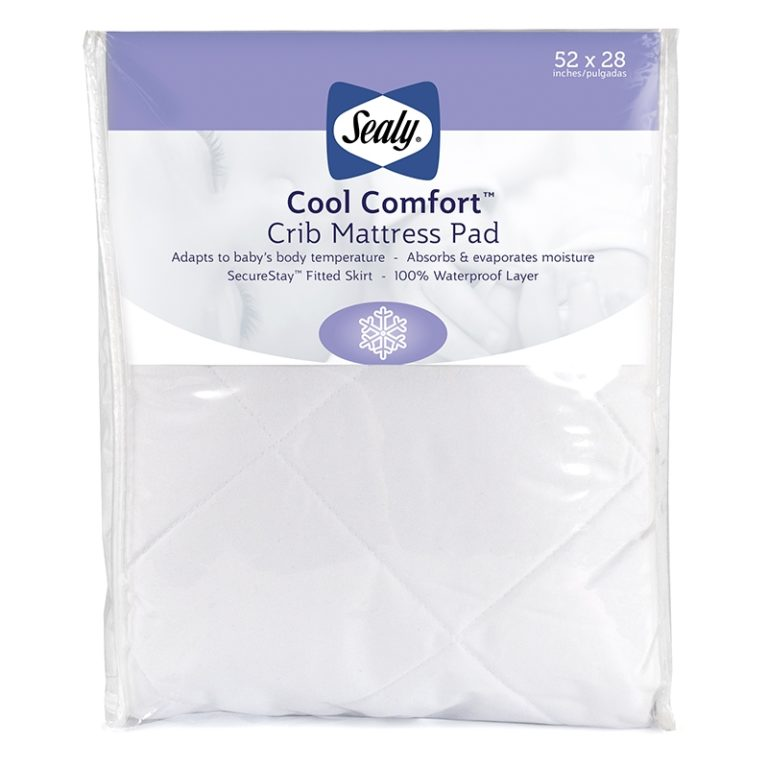 Sealy Cool Comfort Fitted Crib Mattress Pad