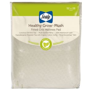 Sealy Healthy Grow Plush Fitted Crib Mattress Pad