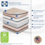 Sealy Naturally Firm 2-Stage Foam Core Crib Mattress - White
