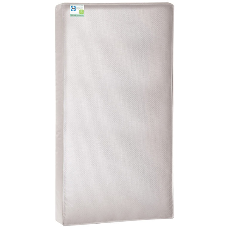 Sealy OmniPlush 2-Stage Foam Crib and Toddler Mattress - White