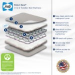 Feature highlights of the Sealy Perfect Rest Crib and Toddler Mattress