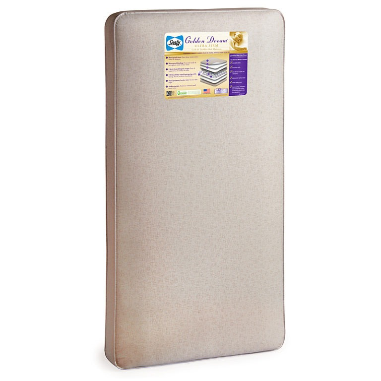 Sealy Golden Dream Ultra Firm Crib Mattress - White