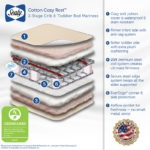 Features of the Sealy Cotton Cozy Rest 2-Stage Crib Mattress