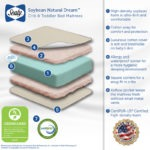 Sealy Soybean Natural Dream Crib and Toddler Mattress - White