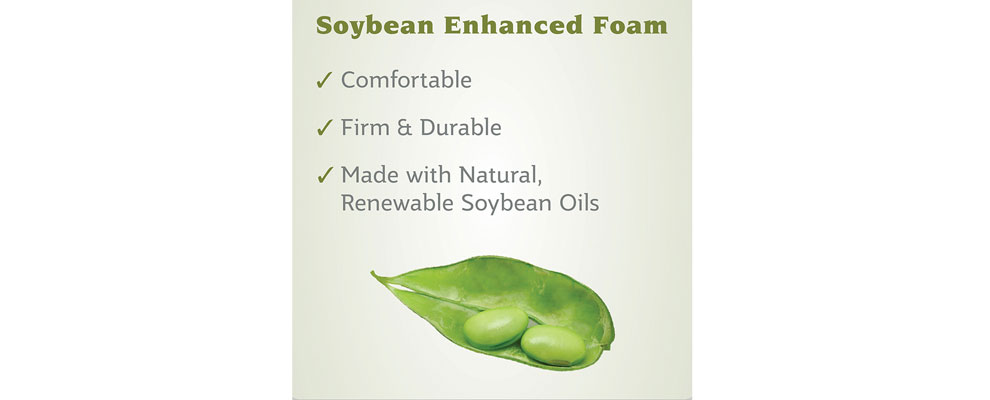 Image highlighting the features of Soybean Enhanced Foam