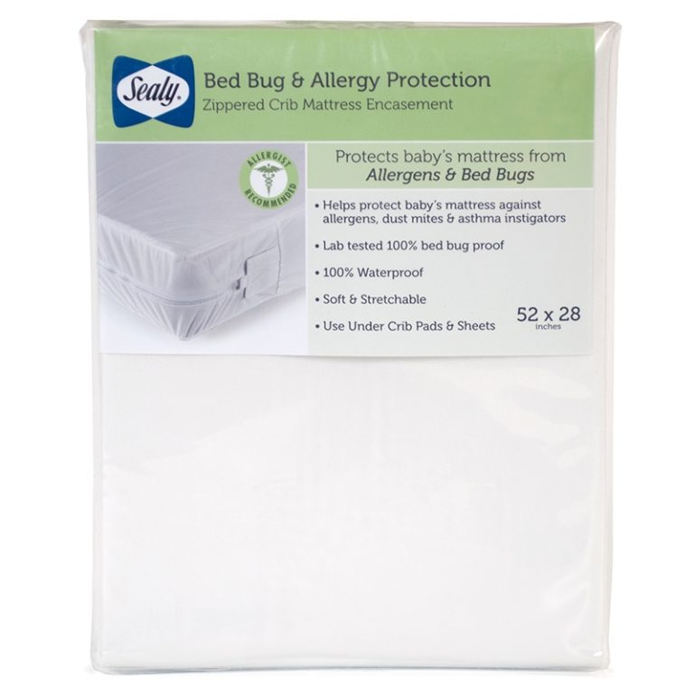 Sealy Bed Bug and Allergy Protection Crib and Toddler Mattress Encasement