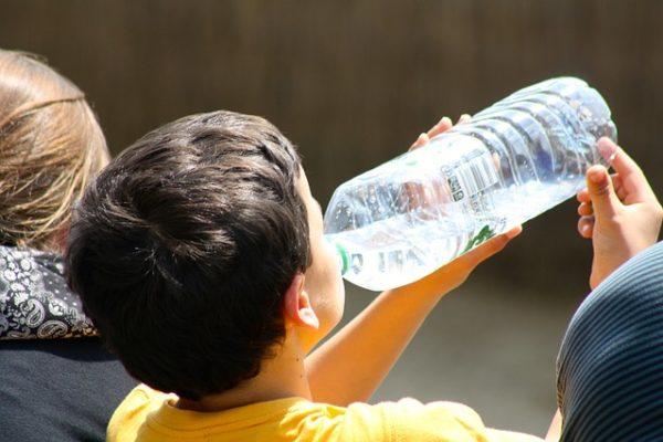 Boy Drinking From Bottle Child Drinking Water