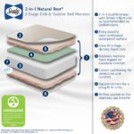 Sealy 2-in-1 Natural Rest 2-Stage Crib and Toddler Mattress - White