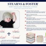 Feature callouts of the Stearns & Foster ErgoLuxe Crib Mattress
