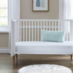 Sealy Baby Stargazer 2-Stage Crib and Toddler Mattress - Tivoli Mint and White