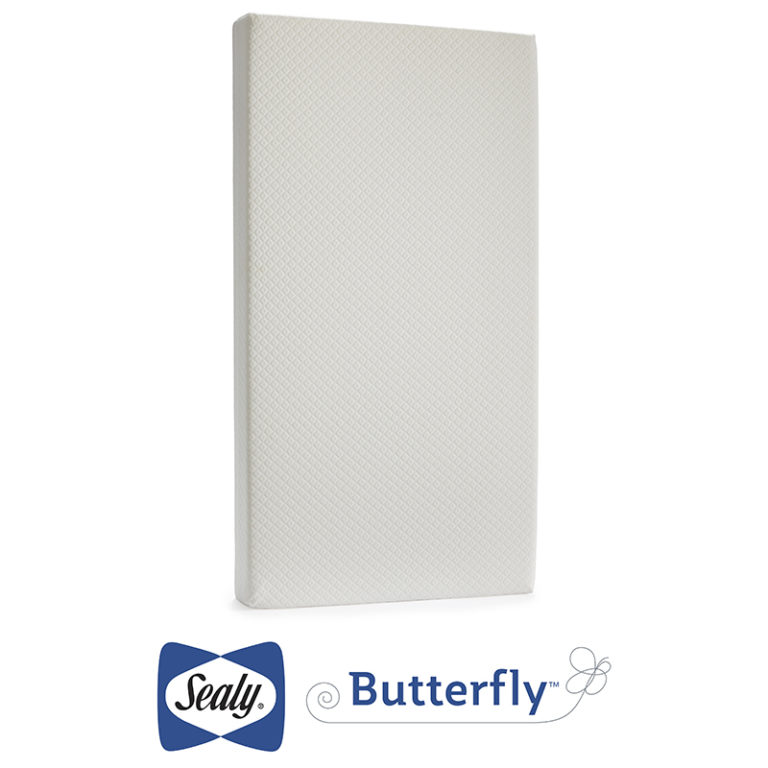 Sealy Butterfly Breathable Knit Crib and Toddler Mattress