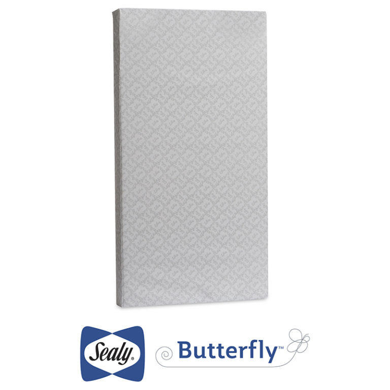 Sealy Butterfly Waterproof Crib and Toddler Mattress