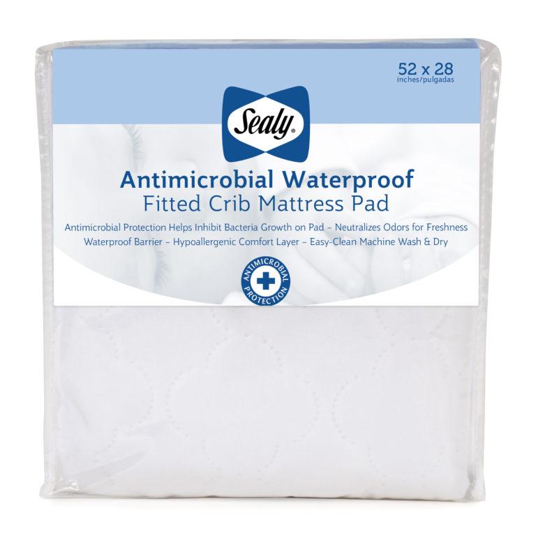 Sealy Antimicrobial Waterproof Toddler and Crib Mattress Pad